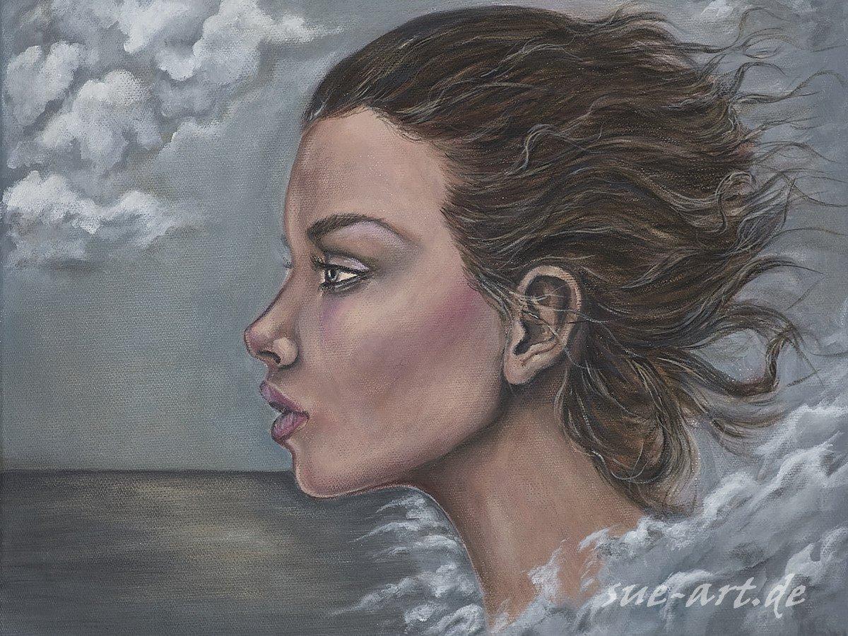 Calypso - Stürmische Zeiten (acrylic on canvas)